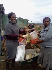 Food parcel being issued