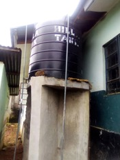 Water tank in situ