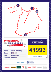 Prudential My Ride London 46 mile certificate