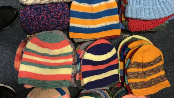 assorted beanie hats